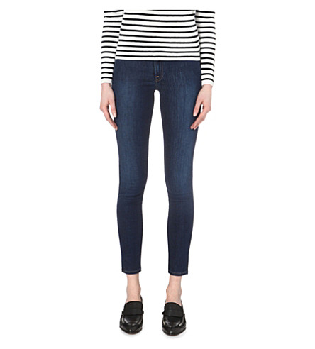 7 FOR ALL MANKIND The Skinny mid-rise jeans (Boston+blue