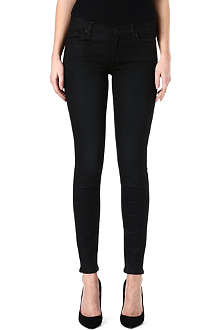 7 FOR ALL MANKIND The Skinny coated mid-rise jeans