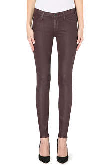 7 FOR ALL MANKIND The skinny saddle leather mid-rise jeans