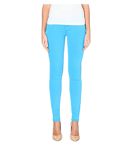 7 FOR ALL MANKIND The Skinny Silk Touch mid-rise jeans (Torqouise