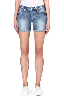 7 FOR ALL MANKIND Slouchy turn-up denim shorts