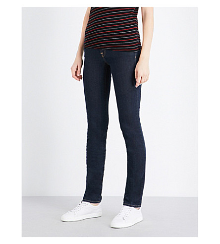 7 FOR ALL MANKIND Roxanne skinny mid-rise jeans (Long+beach+dark
