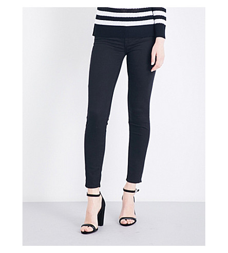 7 FOR ALL MANKIND The Skinny Crop slim-fit high-rise jeans (Riche+sateen