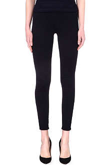 7 FOR ALL MANKIND Black high-rise skinny jeans
