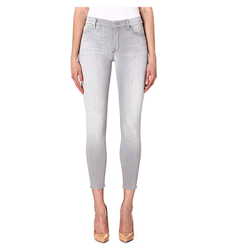 7 FOR ALL MANKIND Skinny high-rise jeans (Grey
