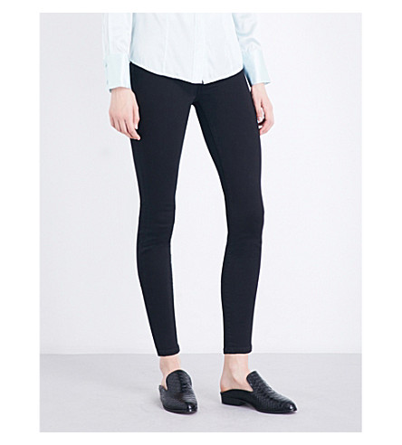 7 FOR ALL MANKIND Illusion luxe super-skinny high-rise jeans (Slm+illus+luxe+rnsd+blk