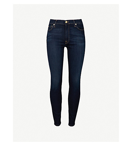 7 FOR ALL MANKIND B(air) super-skinny high-rise jeans (Bair+rinsed+indigo