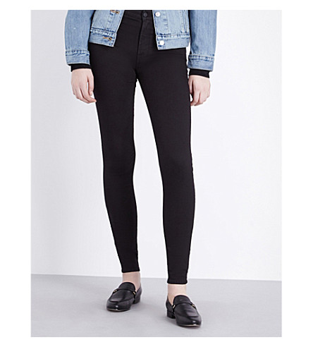 7 FOR ALL MANKIND Phoenix skinny high-rise jeans (Phoenix+black