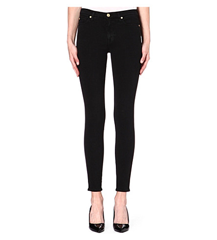 7 FOR ALL MANKIND Skinny high-rise jeans (Black