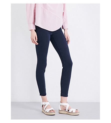 7 FOR ALL MANKIND The Skinny super-skinny high-rise sateen jeans (Riche+sateen