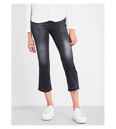 7 FOR ALL MANKIND Slim-fit skinny flared high-rise jeans (Slim+illusion