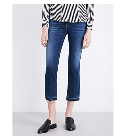 7 FOR ALL MANKIND Cropped Boot released-hem bootcut mid-rise jeans (Slim+illusion