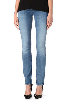 7 FOR ALL MANKIND Slim straight-leg mid-rise jeans