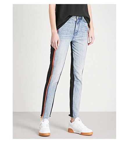 P.E NATION The Venice skinny high-rise jeans (Indigo/black
