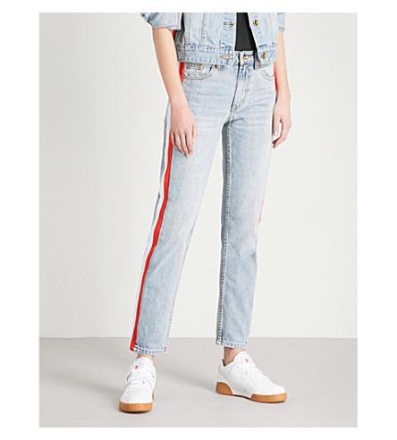 P.E NATION Alley straight mid-rise jeans (Indigo
