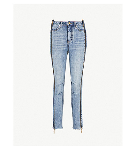 P.E NATION The Rocky skinny mid-rise jeans (Indigo