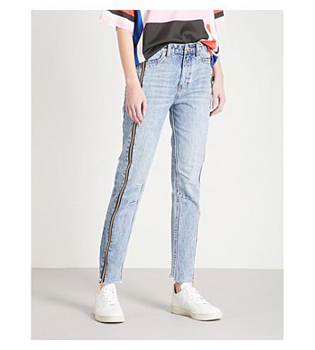 P.E NATION The Rocky skinny mid-rise jeans (Indigo