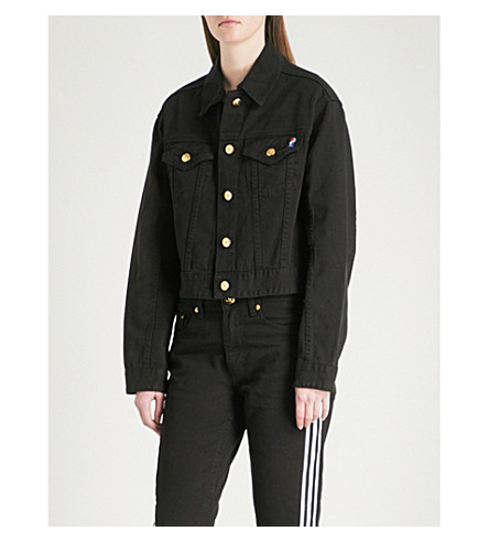P.E NATION The Traction denim jacket (Black