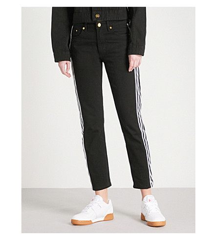 P.E NATION The Traction straight mid-rise jeans (Black