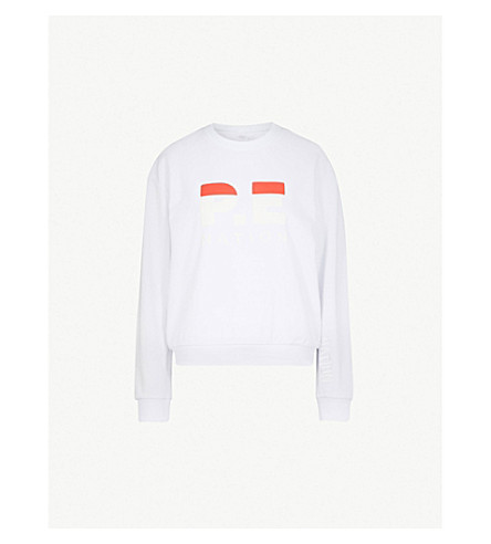 P.E NATION Logo-print cotton-jersey sweatshirt (White