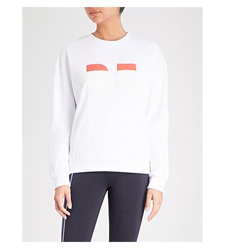 P.E NATION Logo-print cotton-jersey sweatshirt (White
