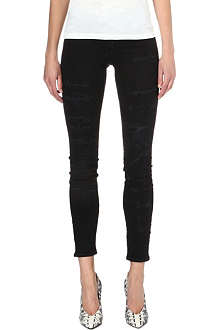 NEUW Razor distressed skinny low-rise jeans
