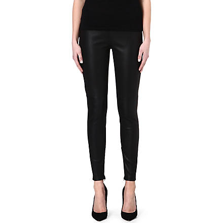 VICTORIA BECKHAM DENIM Leather leggings (Black