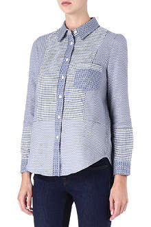 VICTORIA BECKHAM Oxford patchwork shirt