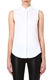VICTORIA BECKHAM Sleeveless cotton shirt