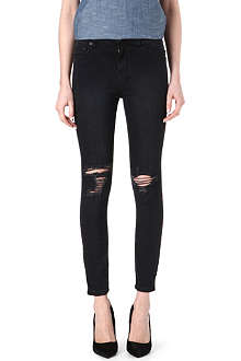 KSUBI Ripped skinny high-rise jeans