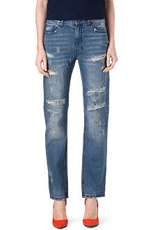 KSUBI Distressed boyfriend low-rise jeans