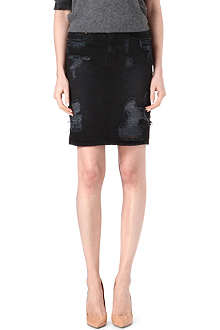 KSUBI High-waisted denim skirt