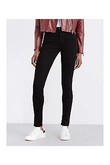 J BRAND 23110 Maria sateen skinny mid-rise jeans