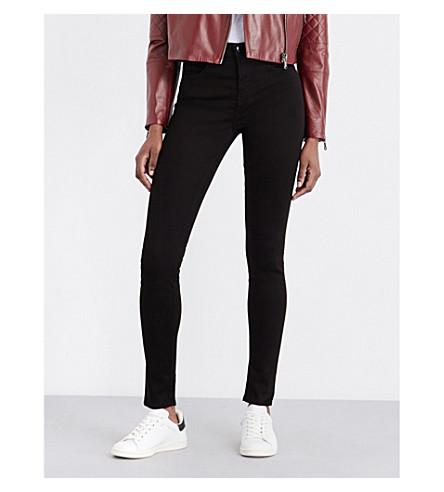 J BRAND Maria skinny high-rise jeans (Black