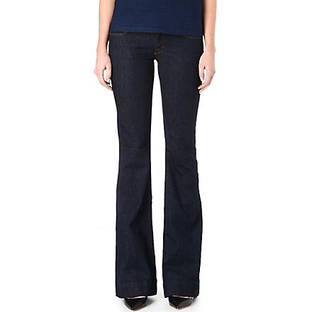 J BRAND 722 Love Story flared low-rise jeans (Indigo+blue