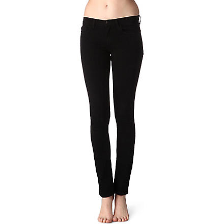 J BRAND 912 pencil-leg low-rise jeans (Black