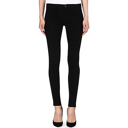 J BRAND 915 super-skinny low-rise leggings (Black