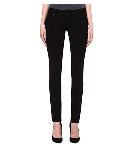 HUDSON JEANS Collin signature skinny jeans (Black