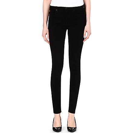HUDSON JEANS Nico super-skinny mid-rise jeans (Black