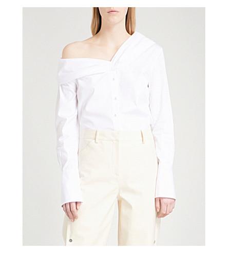 VICTORIA VICTORIA BECKHAM One-shoulder cotton shirt (White