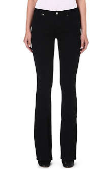 VICTORIA BECKHAM DENIM Flared mid-rise jeans