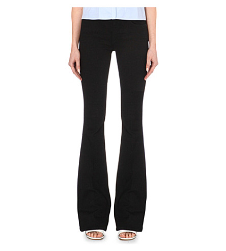 VICTORIA VICTORIA BECKHAM Flared high-rise jeans (Solid+black