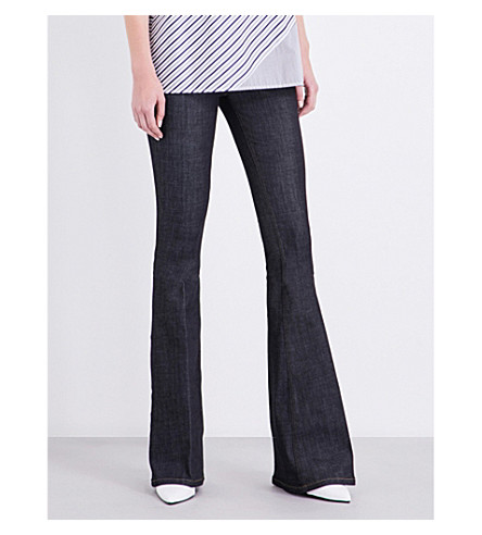 VICTORIA VICTORIA BECKHAM Flare skinny mid-rise jeans (Raw+stretch