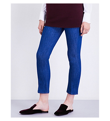 VICTORIA VICTORIA BECKHAM Skinny cropped mid-rise jeans (Lapsin+blue