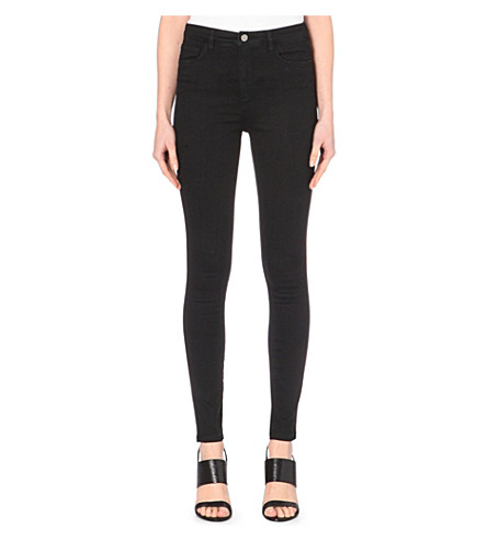 VICTORIA VICTORIA BECKHAM Powerhigh skinny mid-rise jeans (Black