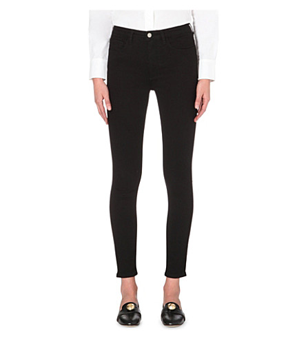 VICTORIA VICTORIA BECKHAM Powerhigh skinny high-rise jeans (Black