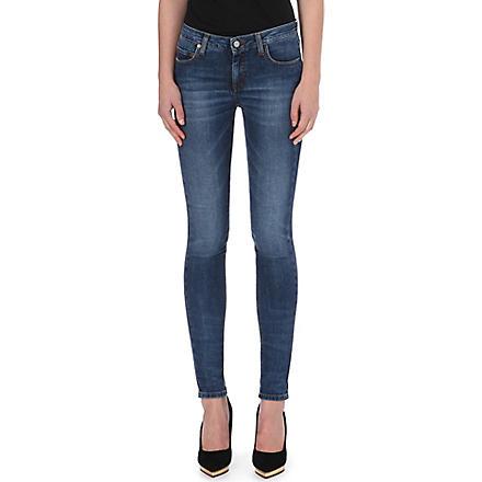 VICTORIA BECKHAM DENIM Skinny mid-rise jeans (Agate