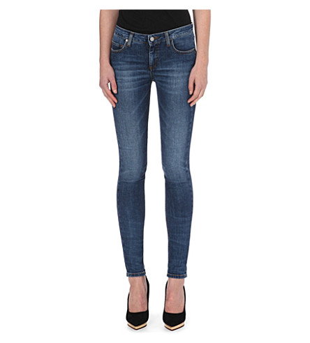 VICTORIA BECKHAM DENIM Skinny mid-rise jeans (Agate