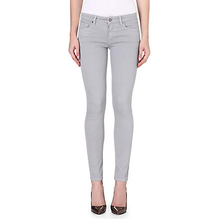 VICTORIA BECKHAM DENIM Power Skinny mid-rise jeans (Grey