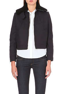 VICTORIA BECKHAM DENIM Military wool-blend bomber jacket